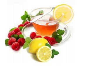 чашка Травяного напитка лимон и малина